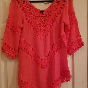 Crochet linen top
